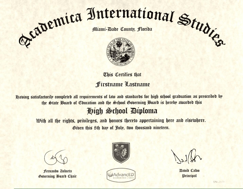 dual diploma. high school diploma, ce diplome est reconnu par toutes les universités aux états unis et dans le monde