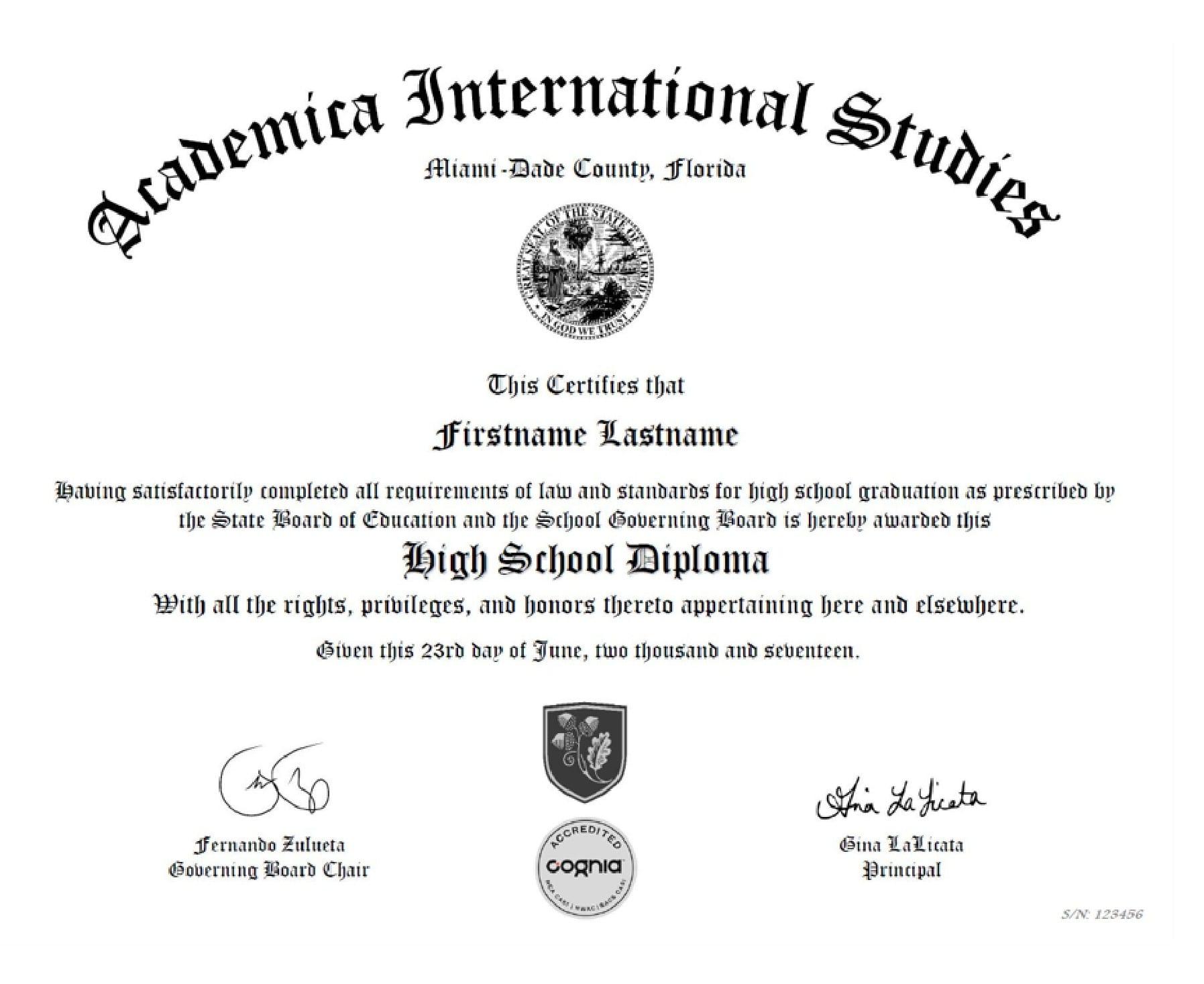 US High School Diploma
